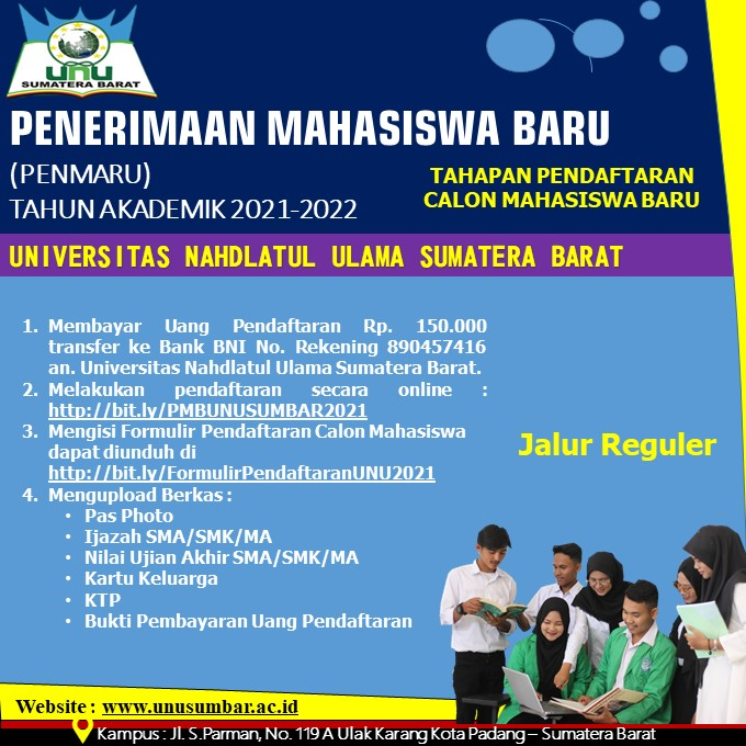 Penerimaan Mahasiswa Baru (PENMARU) TAHUN AKADEMIK 2021-2022