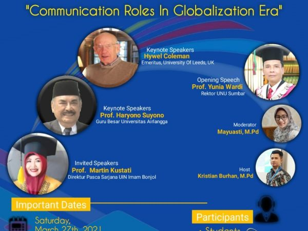 "Webinar Internasional dengan Tema ""Communication Roles In Globalization Era"""