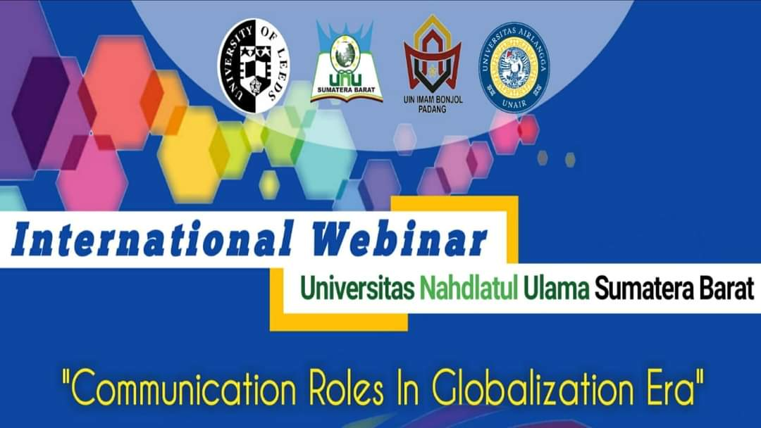 "Webinar Internasional,""Comunication role in globalisation era"""